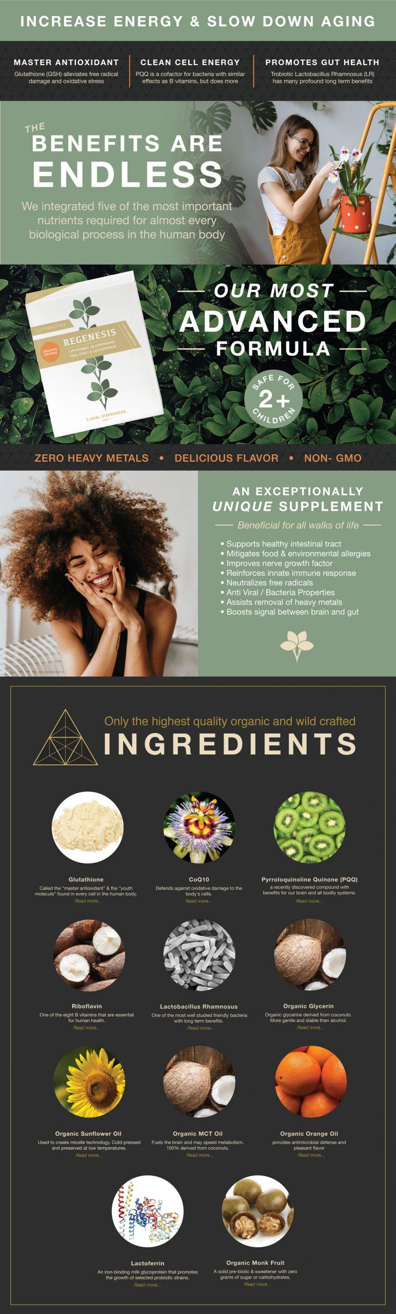 Regenesis - Cymbiotika Premium Organic Herbal Supplements