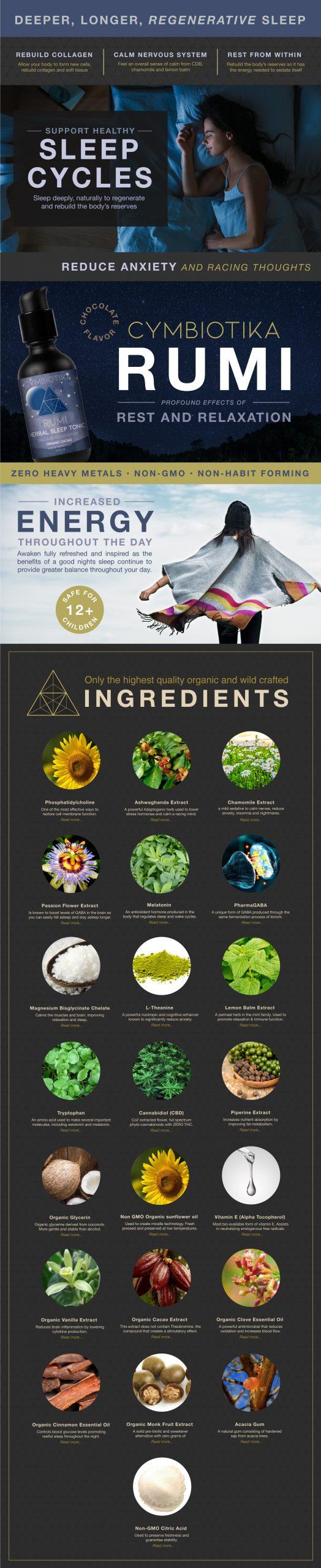 Rumi Herbal Sleep Tonic - Cymbiotika Premium Organic Herbal Supplements