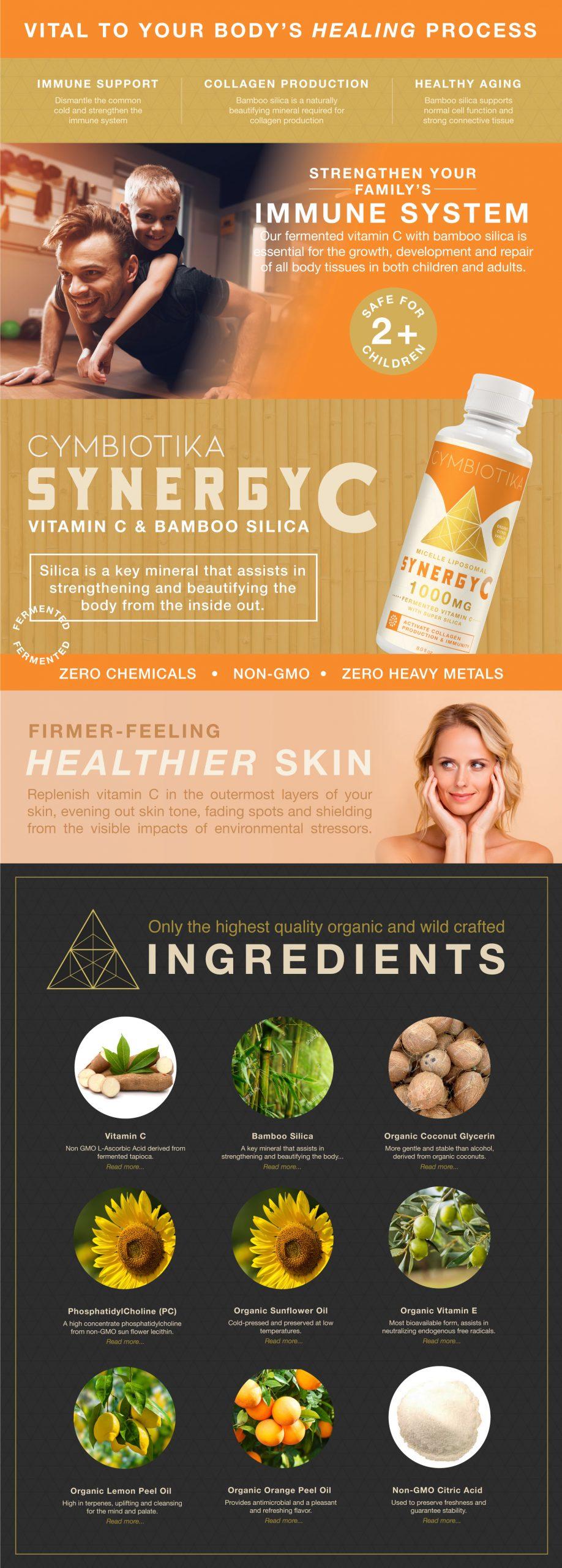 Synergy Vitamin C - Cymbiotika Premium Organic Herbal Supplements