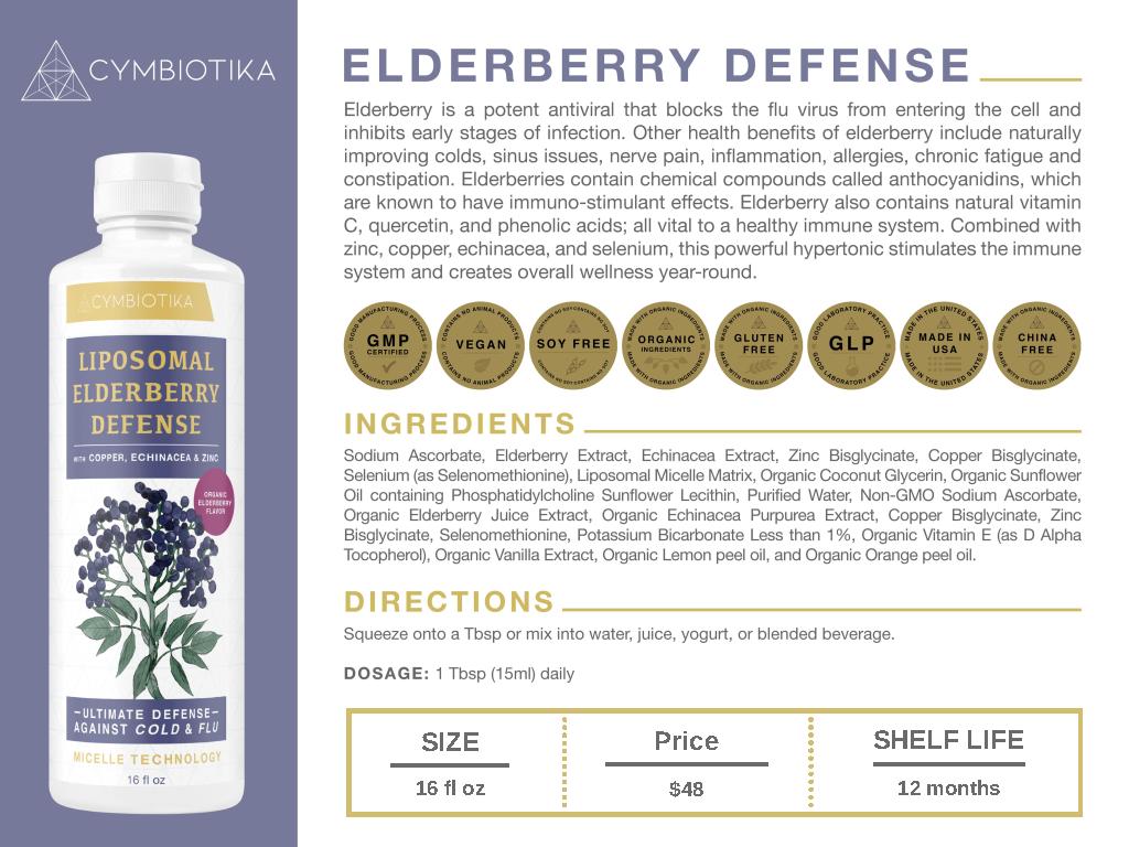Elderberry Defense - Cymbiotika Premium Organic Herbal Supplements