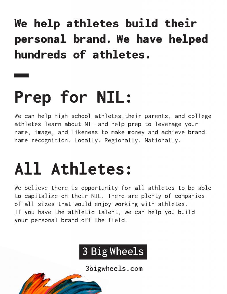 3 Big Wheels | Athlete Branding + Marketing